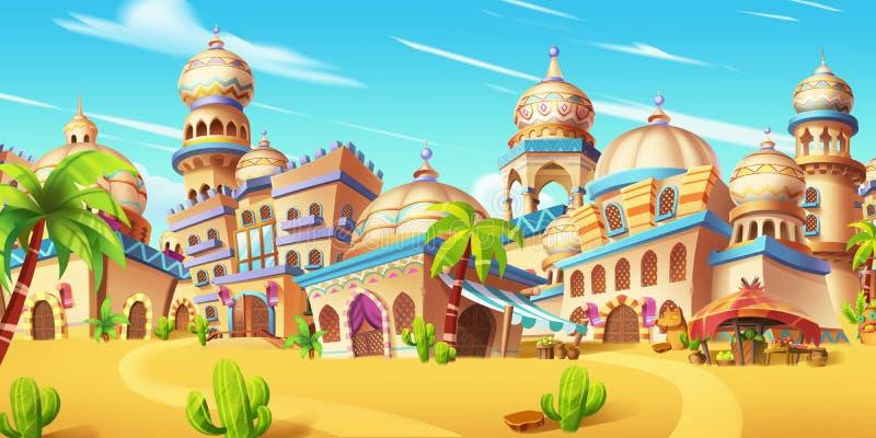 Minha cena pequena da cidade, cidade do deserto ilustração royalty free