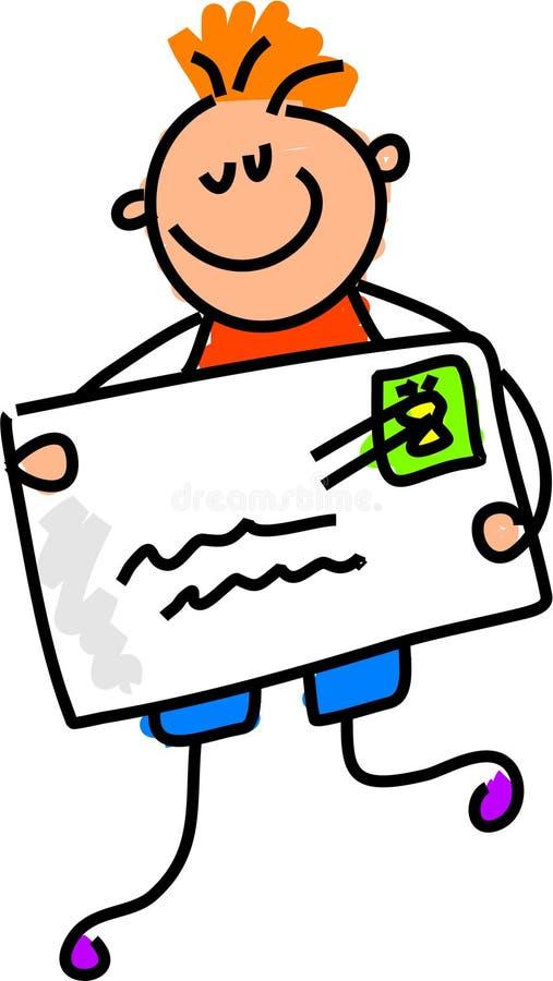 Minha letra ilustração stock