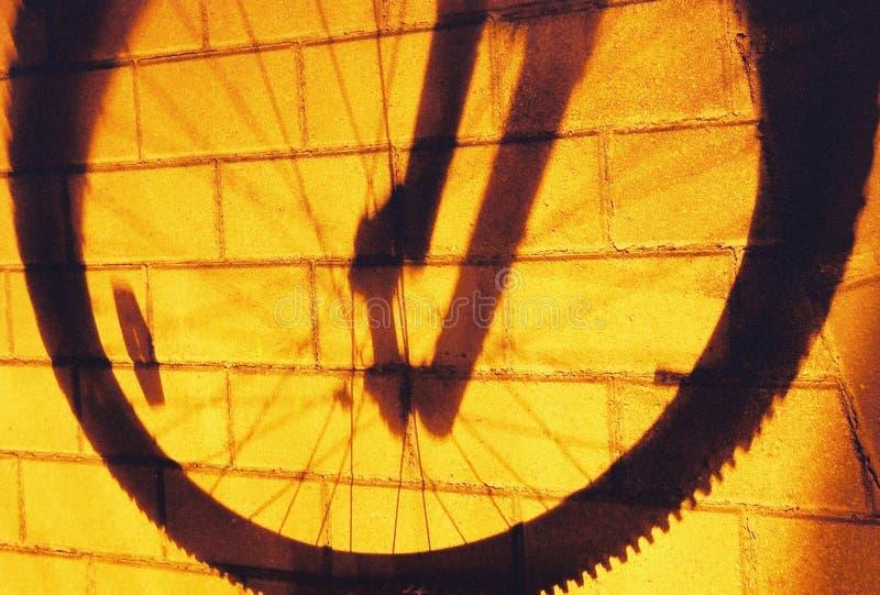 Minha maneira, sombra da roda ilustração do vetor