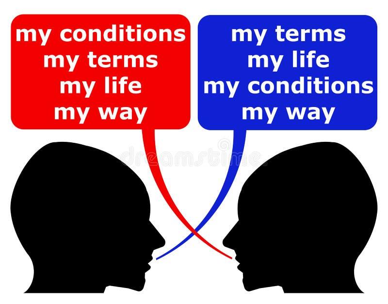 Minha vida ilustração do vetor