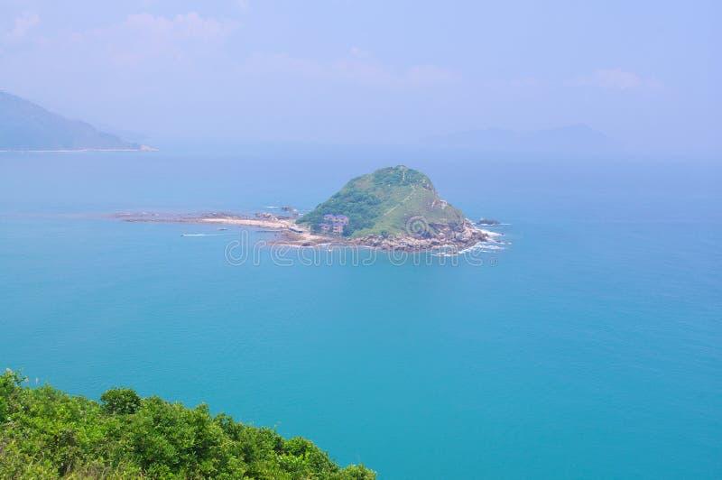 Miniö av Hongs Kong sjösida arkivbild