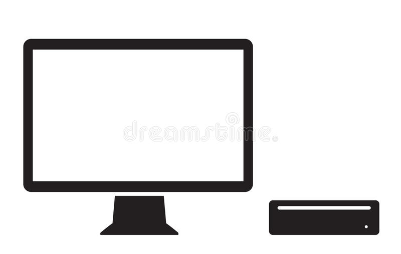 Mini ícone do computador ilustração stock