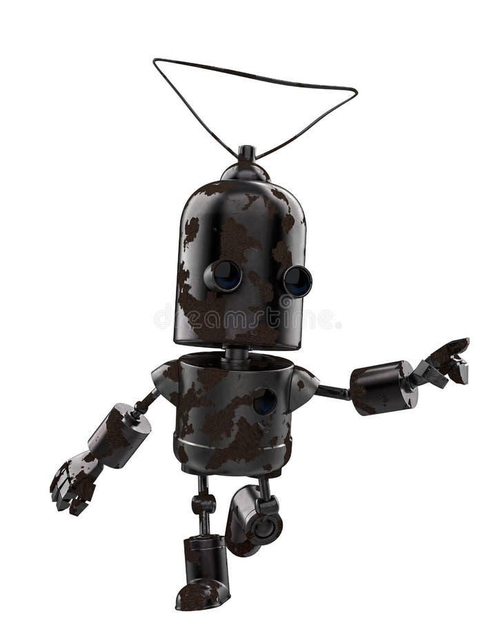 Mini żelazny robot w białym tle royalty ilustracja