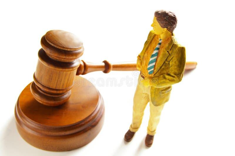 Mini abogado imagen de archivo