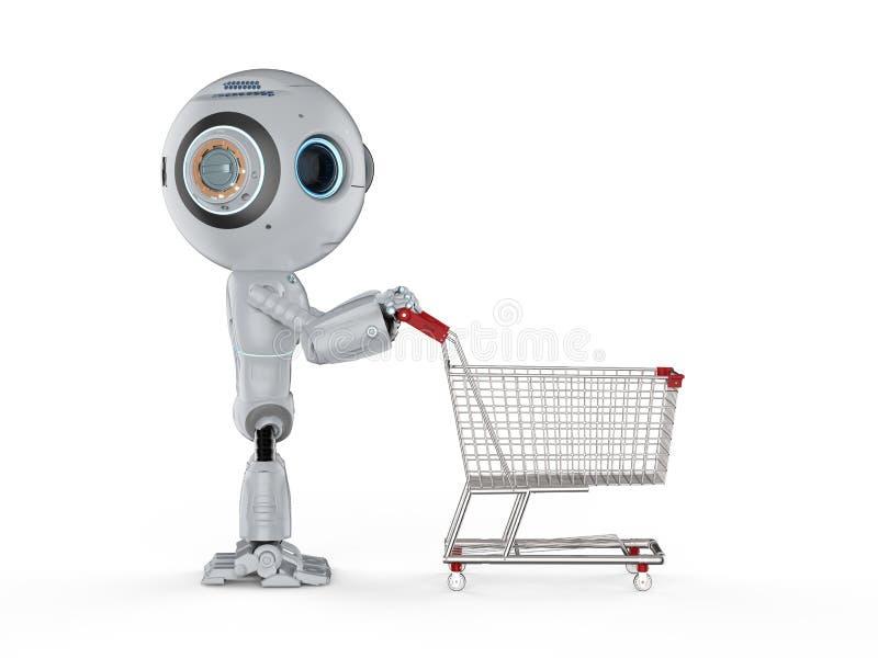 Mini acquisto del robot illustrazione vettoriale