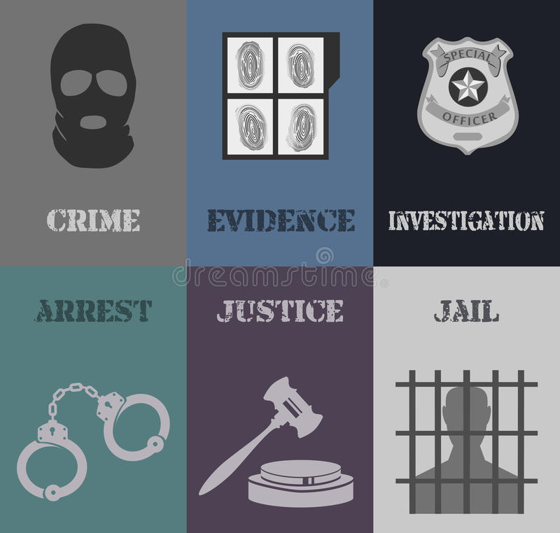 Mini affiches de police illustration de vecteur