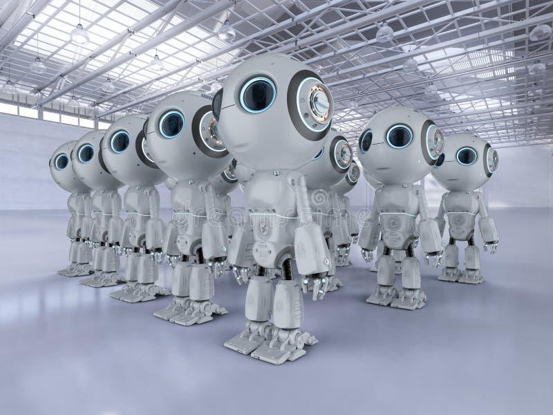 Mini assemblea dei robot royalty illustrazione gratis