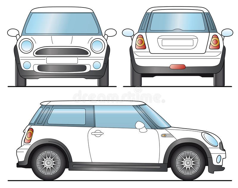 Mini Auto vector illustratie