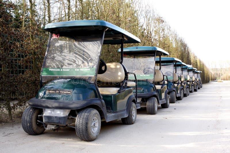 Mini automobile di golf immagine stock libera da diritti