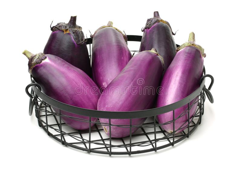 Mini Baby Eggplant imagem de stock royalty free