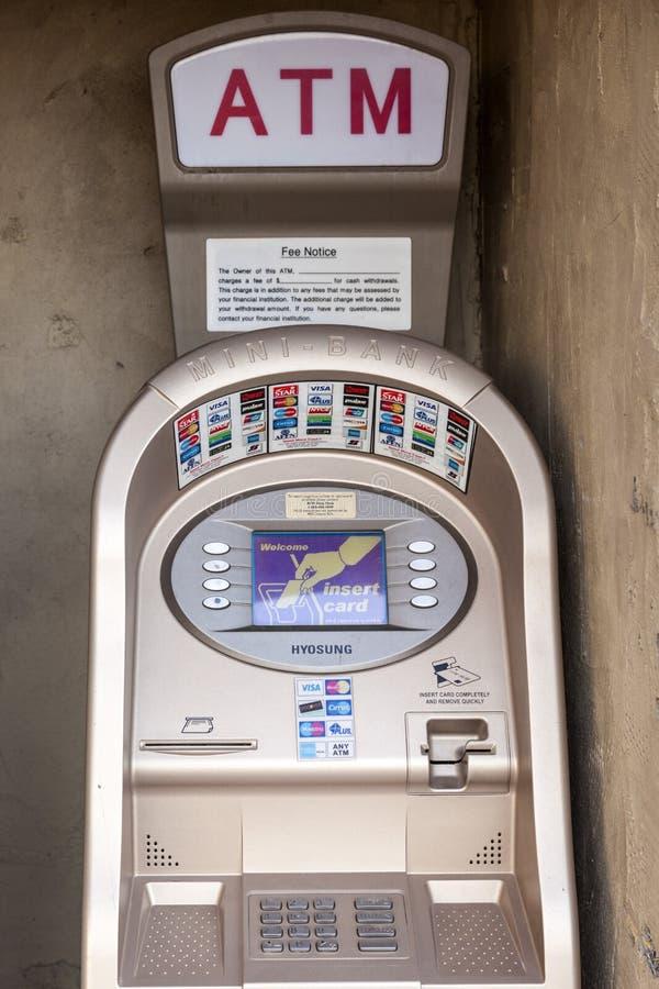 Mini Bank ATM royalty-vrije stock foto