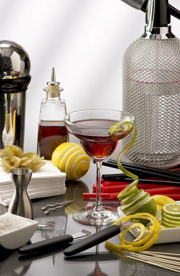 Mini Bar cocktail royalty free stock photography