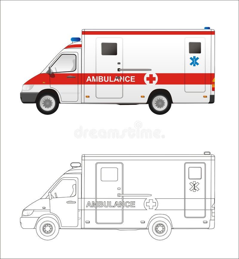 Mini barramento da ambulância imagens de stock royalty free