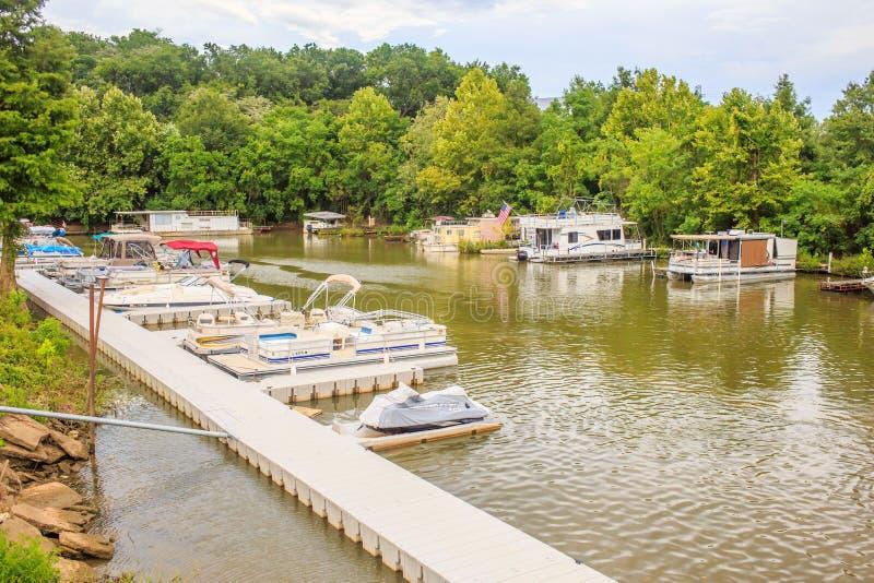 Mini Boat Dock stockbilder