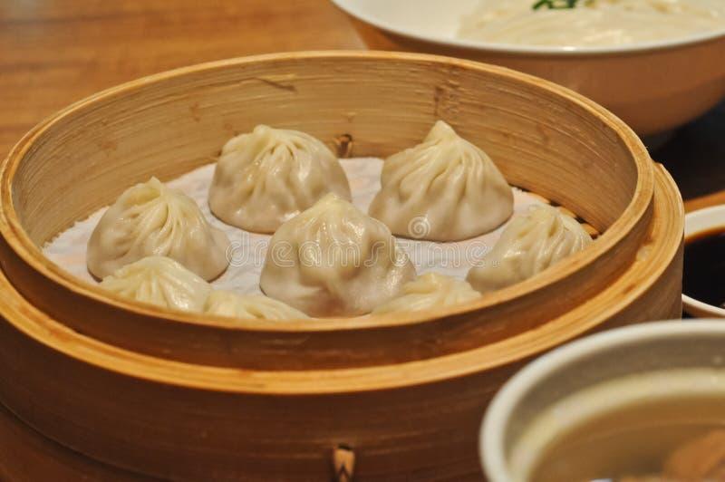 Mini bolo Xiao Long Bao de Shanghai imagens de stock