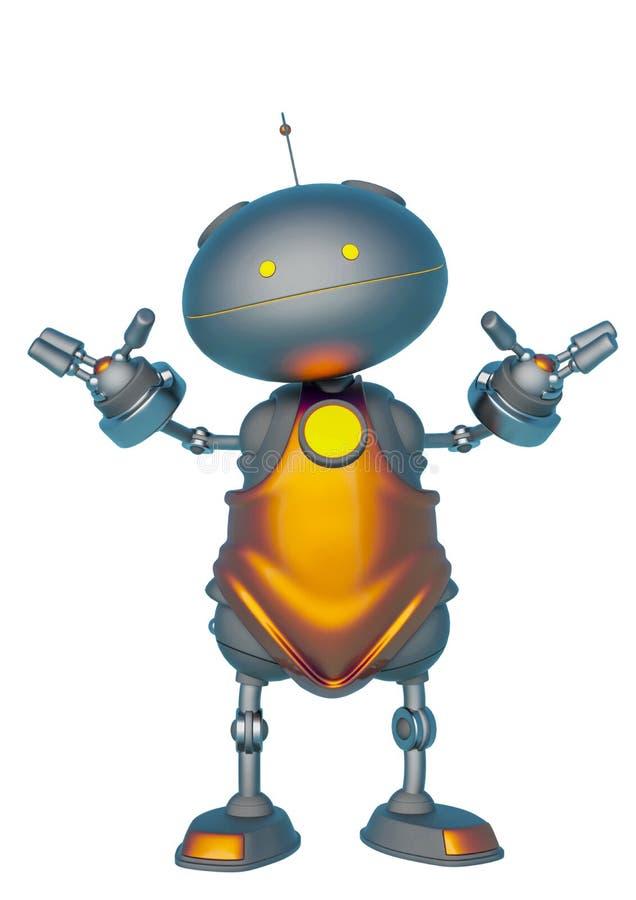 Mini bot en un fondo blanco stock de ilustración