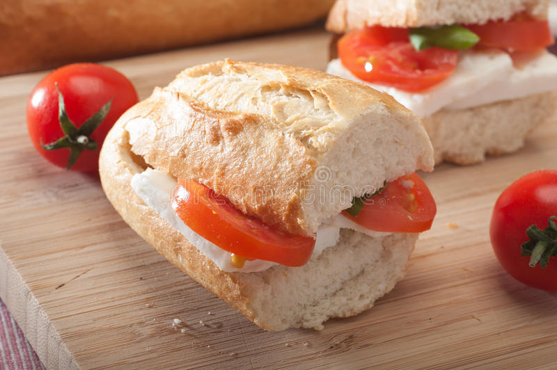 Mini Bread Sandwiches royalty free stock image