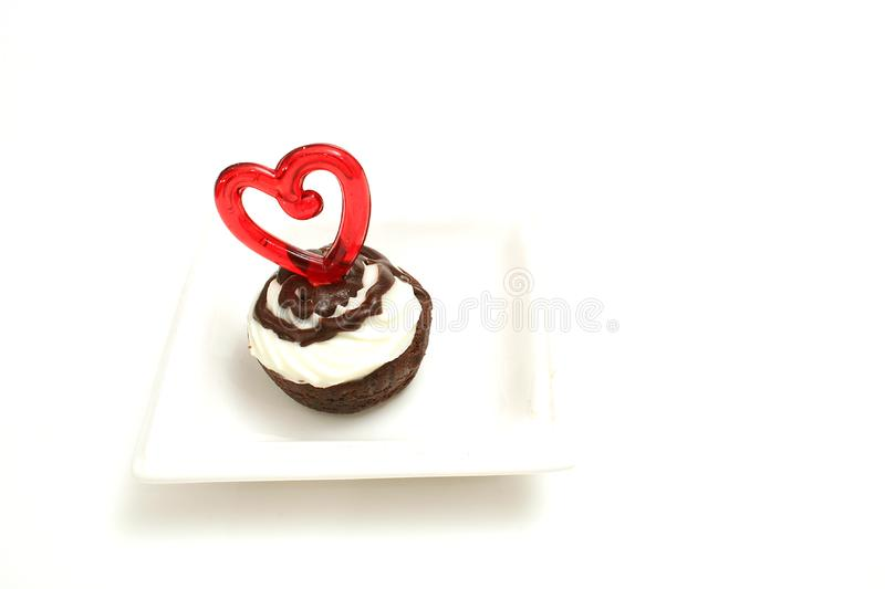 Download Mini brownie bite heart stock image. Image of diet, yummy - 2374873