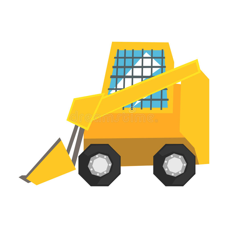 Free Mini Bulldozer With Protected Windows, Skid Loader Vector Illustration Royalty Free Stock Photos - 97591198