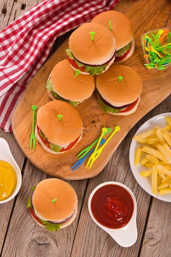 Mini Burgers photos stock