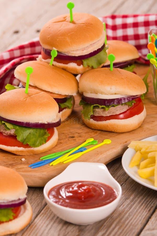 Mini Burgers photos libres de droits