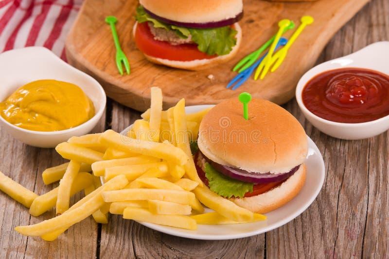 Mini Burgers photo libre de droits