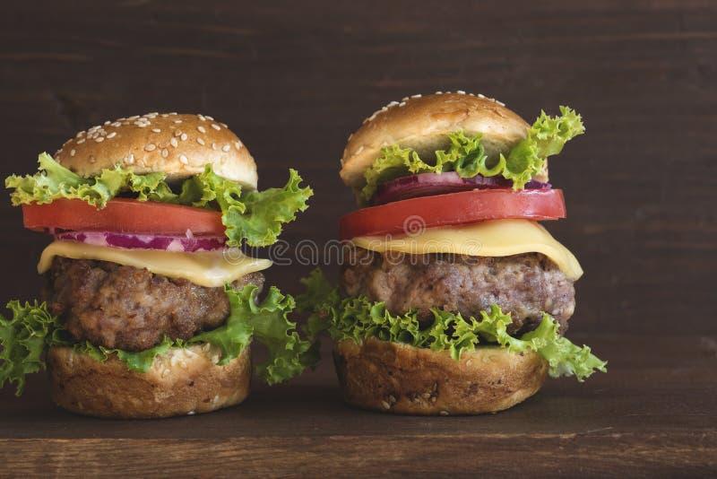 Mini Burgers royalty-vrije stock afbeeldingen
