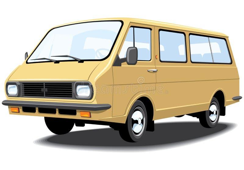 Mini bus illustration libre de droits