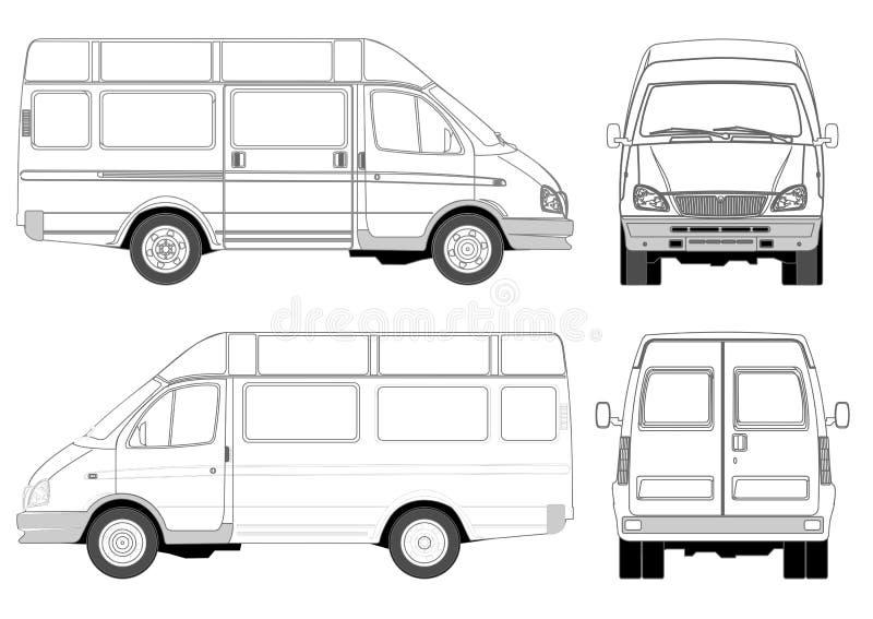 Mini bus stock illustratie