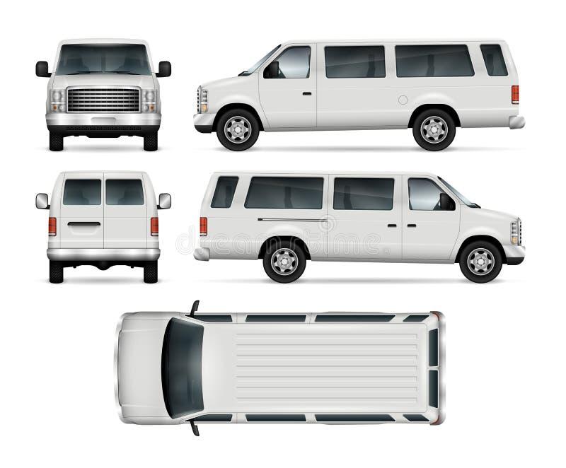 Mini Bus Vector Template royalty free illustration