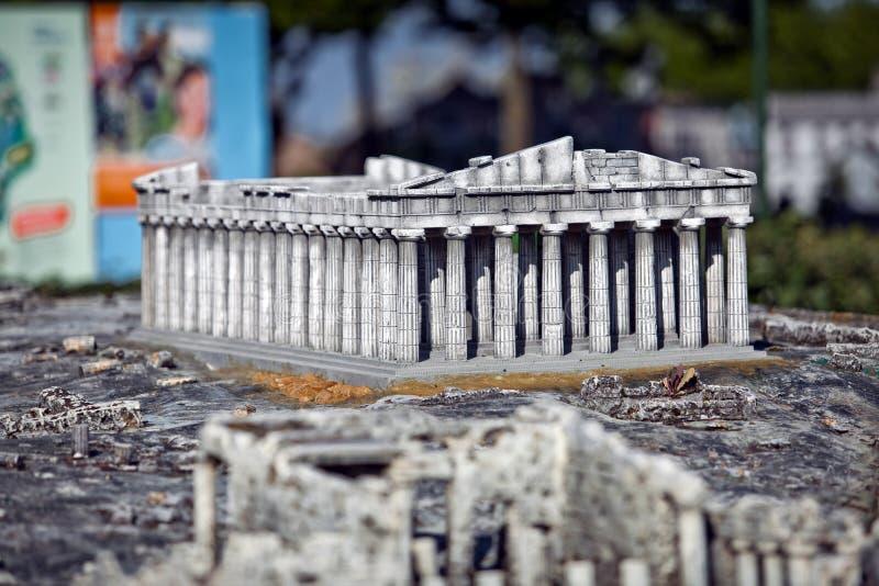 Mini cópia do Partenon fotografia de stock