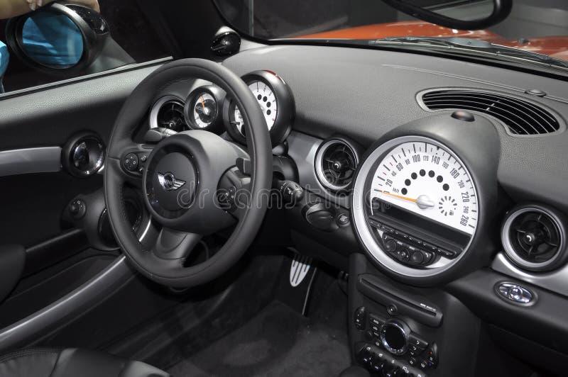 mini cabrio kokpit obrazy royalty free