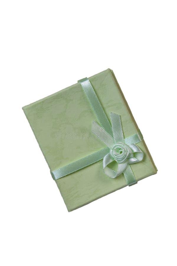 Mini cadre de cadeau vert avec la bande images libres de droits