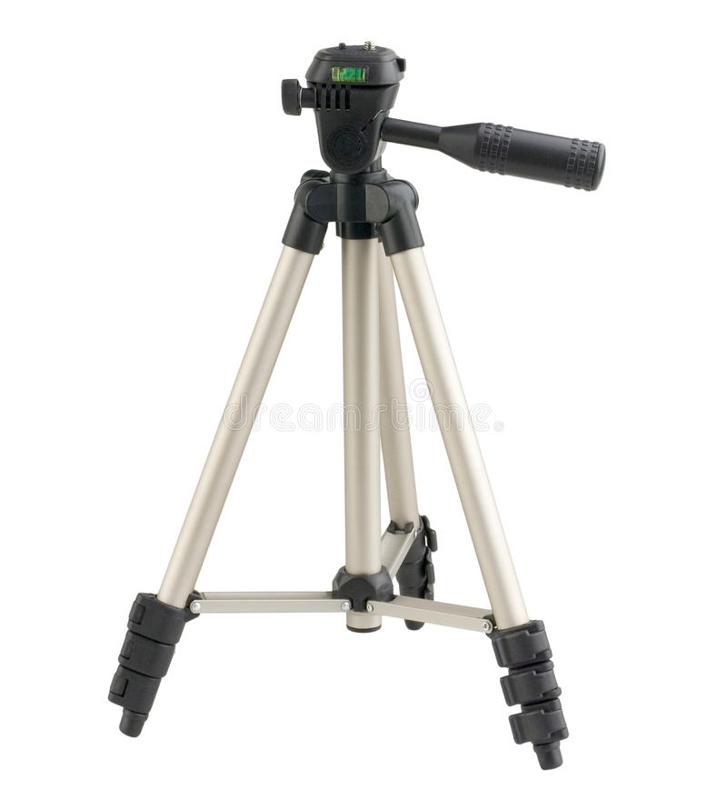 Mini camera tripod. Mini portable camera tripod for digital compact camera stock images