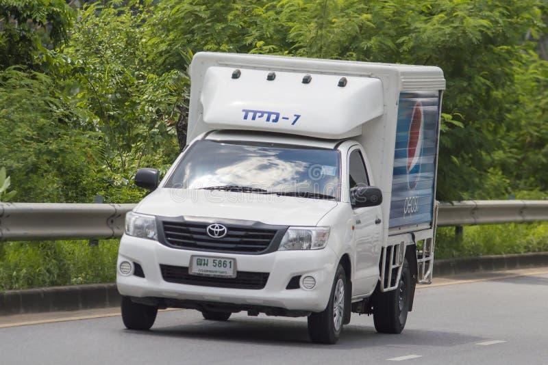 Mini camión refrigerado del envase foto de archivo