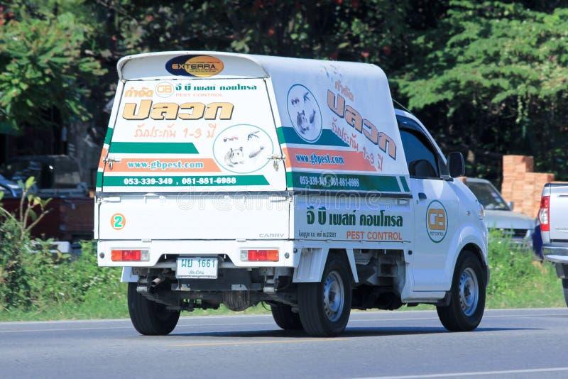 Mini camion de société de lutte contre les parasites de gigaoctet images libres de droits