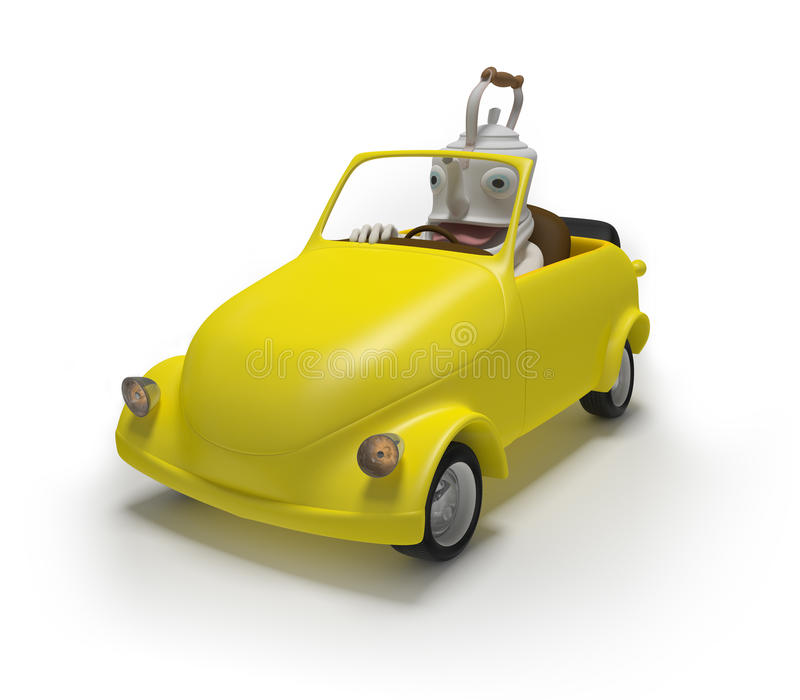 Download Mini car with teapot stock illustration. Illustration of background - 28949031