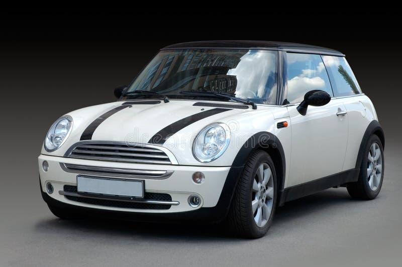 Mini carro branco fotografia de stock royalty free
