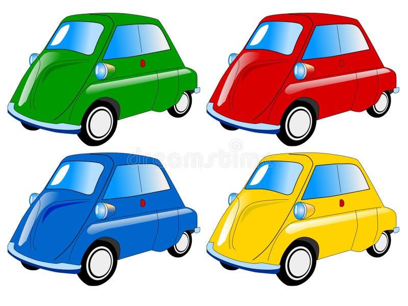 Download Mini carros coloridos ilustração do vetor. Ilustração de roda - 12803577