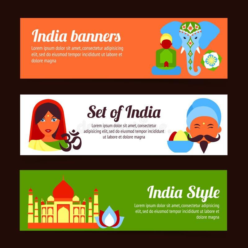 Mini cartel de la India stock de ilustración