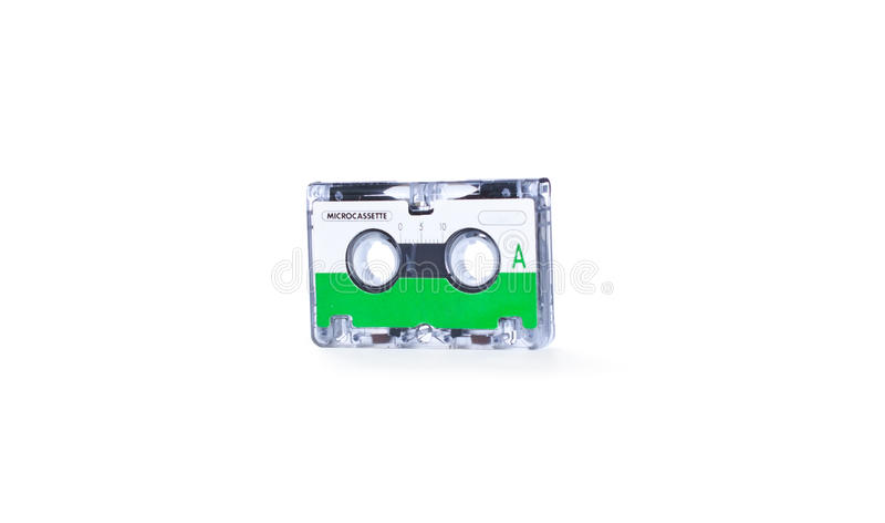 Mini cassette sonore pour le fax/type enregistreur photo stock