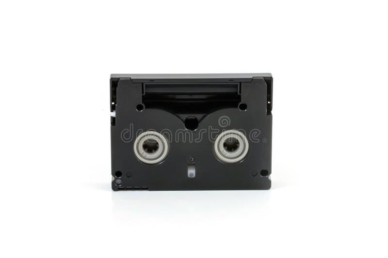 Mini cassettes de DV d'isolement sur le blanc photo stock