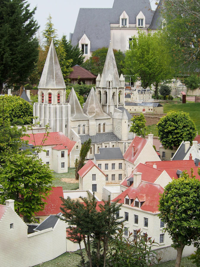 Mini Chateaux Park in Amboise France stock photo