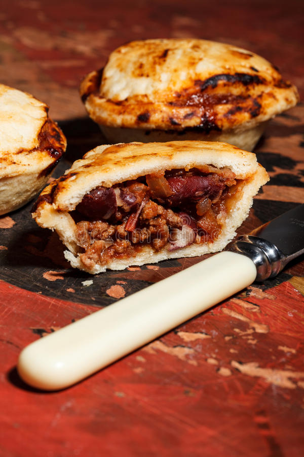 Mini Chilli Beef Pies Royalty Free Stock Image