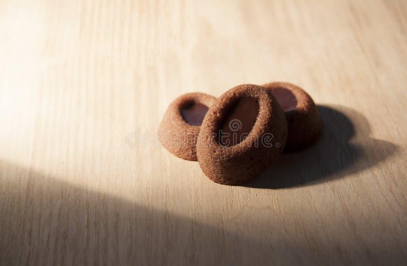 Mini Chocolate-cake stock foto