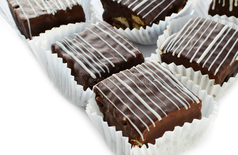 Mini chocolate cakes royalty free stock photo