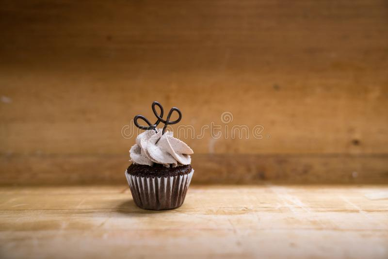Mini Chocolate Cupcake simple photos stock