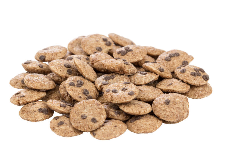 Mini Chocolate salta las galletas foto de archivo libre de regalías