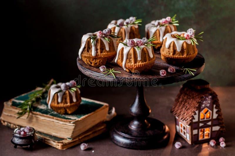 Mini Christmas Bundt Cakes fotos de archivo