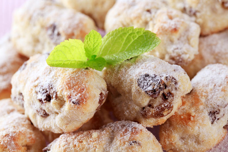 Mini Christmas stollen cakes royalty free stock photos
